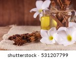 aromatherapy bottle with... | Shutterstock . vector #531207799