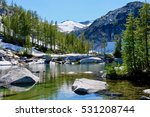 Alpine Lake With Clear Water ...