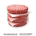 stack of fresh raw burger patty ... | Shutterstock . vector #531210307