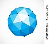 abstract 3d faceted figure with ... | Shutterstock .eps vector #531212341