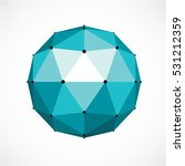 abstract 3d faceted figure with ... | Shutterstock .eps vector #531212359