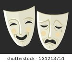 sad and happy theater masks
