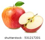 apple isolated on white... | Shutterstock . vector #531217201