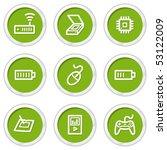 electronics web icons set 2 ... | Shutterstock .eps vector #53122009