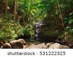 beautiful small cascade in the...   Shutterstock . vector #531222325