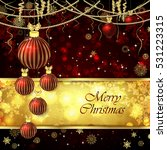 vector christmas card with... | Shutterstock .eps vector #531223315