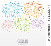 firework background  can be use ... | Shutterstock .eps vector #531223747