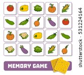 memory game for preschool... | Shutterstock .eps vector #531224164