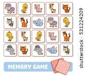 memory game for preschool... | Shutterstock .eps vector #531224209