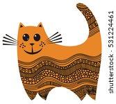 cute cartoon cat. vector... | Shutterstock .eps vector #531224461