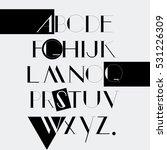 modern minimal capital alphabet ... | Shutterstock .eps vector #531226309