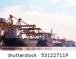 container shipping port import... | Shutterstock . vector #531227119