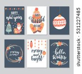 vector set of hand drawn of... | Shutterstock .eps vector #531227485