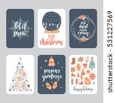 vector set of hand drawn... | Shutterstock .eps vector #531227569