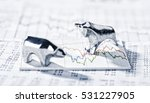 Bull And Bear Are On A Graphic...