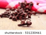 spice dry cloves heap on...   Shutterstock . vector #531230461