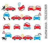 road accident  car crash ... | Shutterstock .eps vector #531232405
