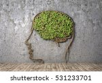concept of thinking. the green...   Shutterstock . vector #531233701