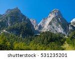 idyllic panorama gosausee lake  ... | Shutterstock . vector #531235201