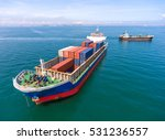 container ship in export and... | Shutterstock . vector #531236557