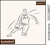 illustration shows a basketball ... | Shutterstock . vector #531238837