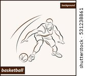 illustration shows a basketball ... | Shutterstock . vector #531238861