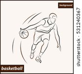 illustration shows a basketball ... | Shutterstock . vector #531240367