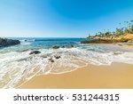 rocks and sand in laguna beach  ...   Shutterstock . vector #531244315