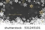 christmas dark background with... | Shutterstock .eps vector #531245101