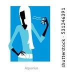 Aquarius Horoscope Sign. Femal...