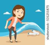 caucasian woman showing plastic ... | Shutterstock .eps vector #531251875