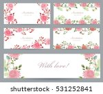 romantic collection of greeting ... | Shutterstock .eps vector #531252841