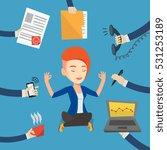 caucasian hard working business ... | Shutterstock .eps vector #531253189