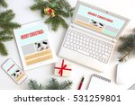 working place of web designer... | Shutterstock . vector #531259801
