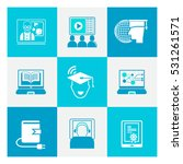 online education icons | Shutterstock .eps vector #531261571