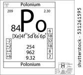 the periodic table element... | Shutterstock .eps vector #531261595