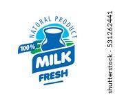 milk logo vector | Shutterstock .eps vector #531262441