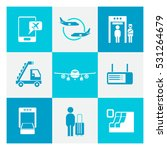 airport icons | Shutterstock .eps vector #531264679