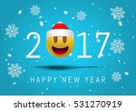 happy new year 2017 with cute... | Shutterstock .eps vector #531270919