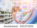 young couple shopping for diy... | Shutterstock . vector #531271024