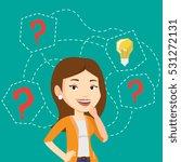 caucasian business woman having ... | Shutterstock .eps vector #531272131