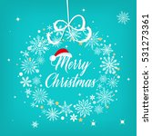 merry christmas sign over... | Shutterstock .eps vector #531273361