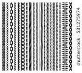 black vertical chains set of... | Shutterstock .eps vector #531275974