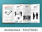 business infographics paper... | Shutterstock .eps vector #531276031