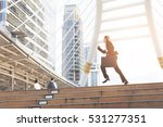 business woman  holding bag and ...   Shutterstock . vector #531277351