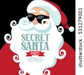 cartoon secret santa invitation ... | Shutterstock .eps vector #531279001