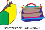 two multi colored valise   one... | Shutterstock .eps vector #531280621