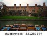River Cam In Cambridge   England