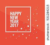 happy new year 2017 text in... | Shutterstock .eps vector #531284215