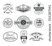 set of vector tailor emblem ... | Shutterstock .eps vector #531287041